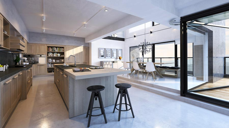 A friendly open-plan kitchen