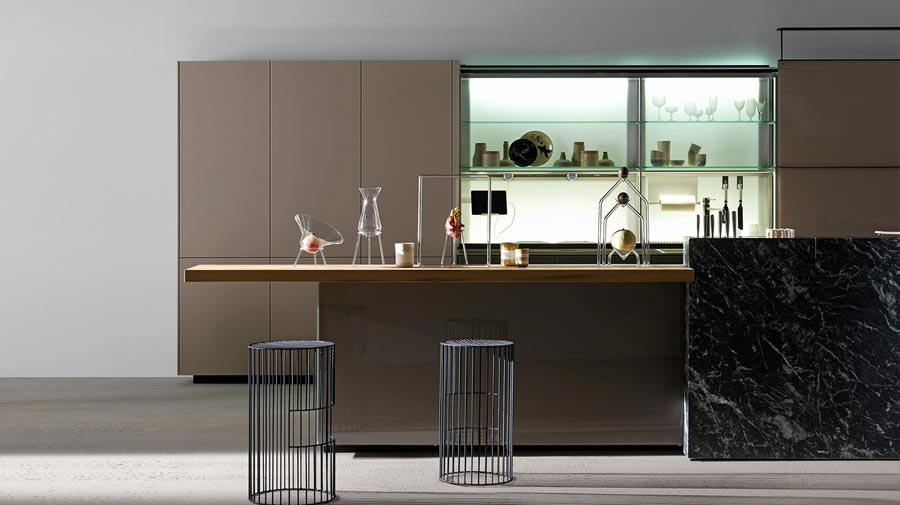 A modern kitchen with secret compartments