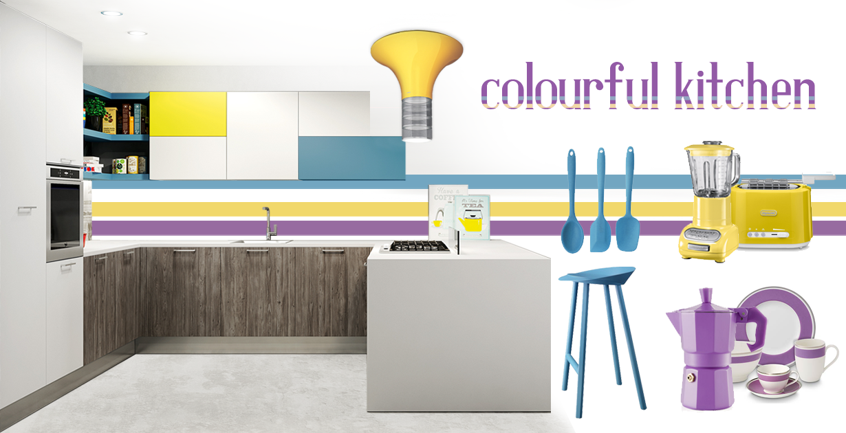 moodboard colourful kitchen
