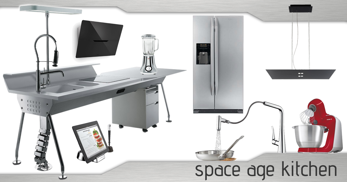 moodboard space age kitchen