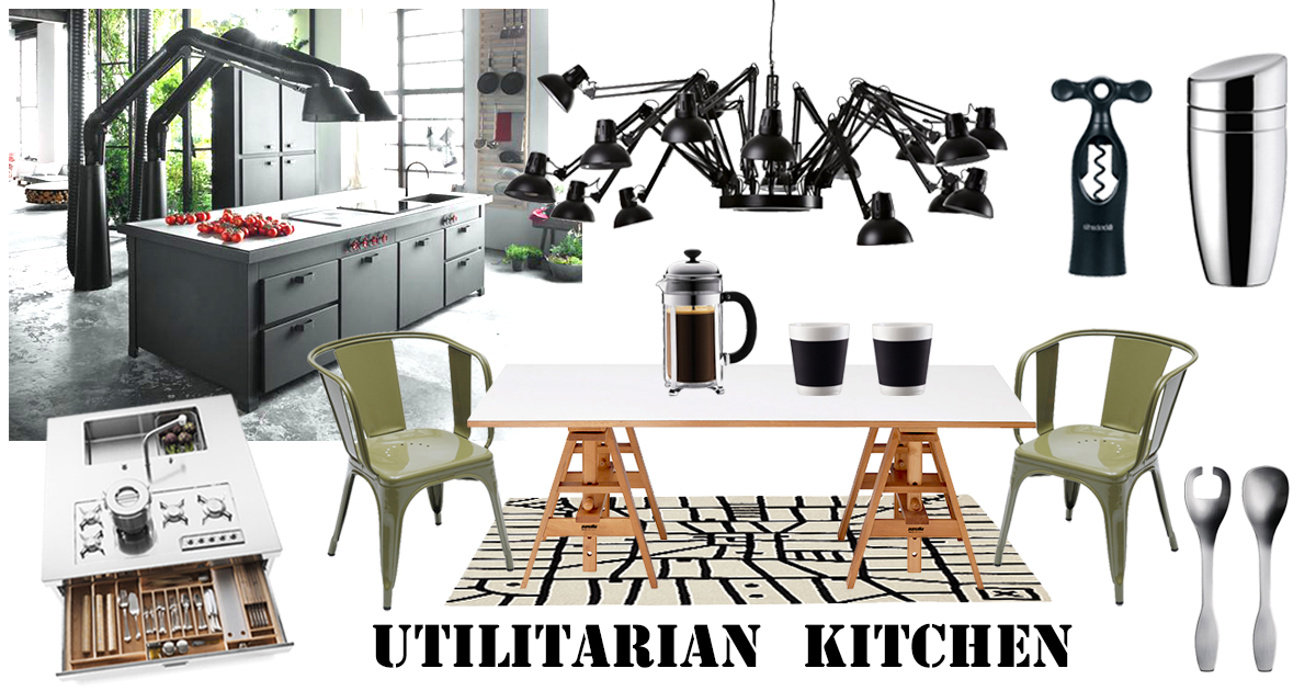 Have you ever thought of giving an industrial look to your kitchen?