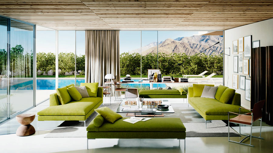 A soothing living room inspired by nature