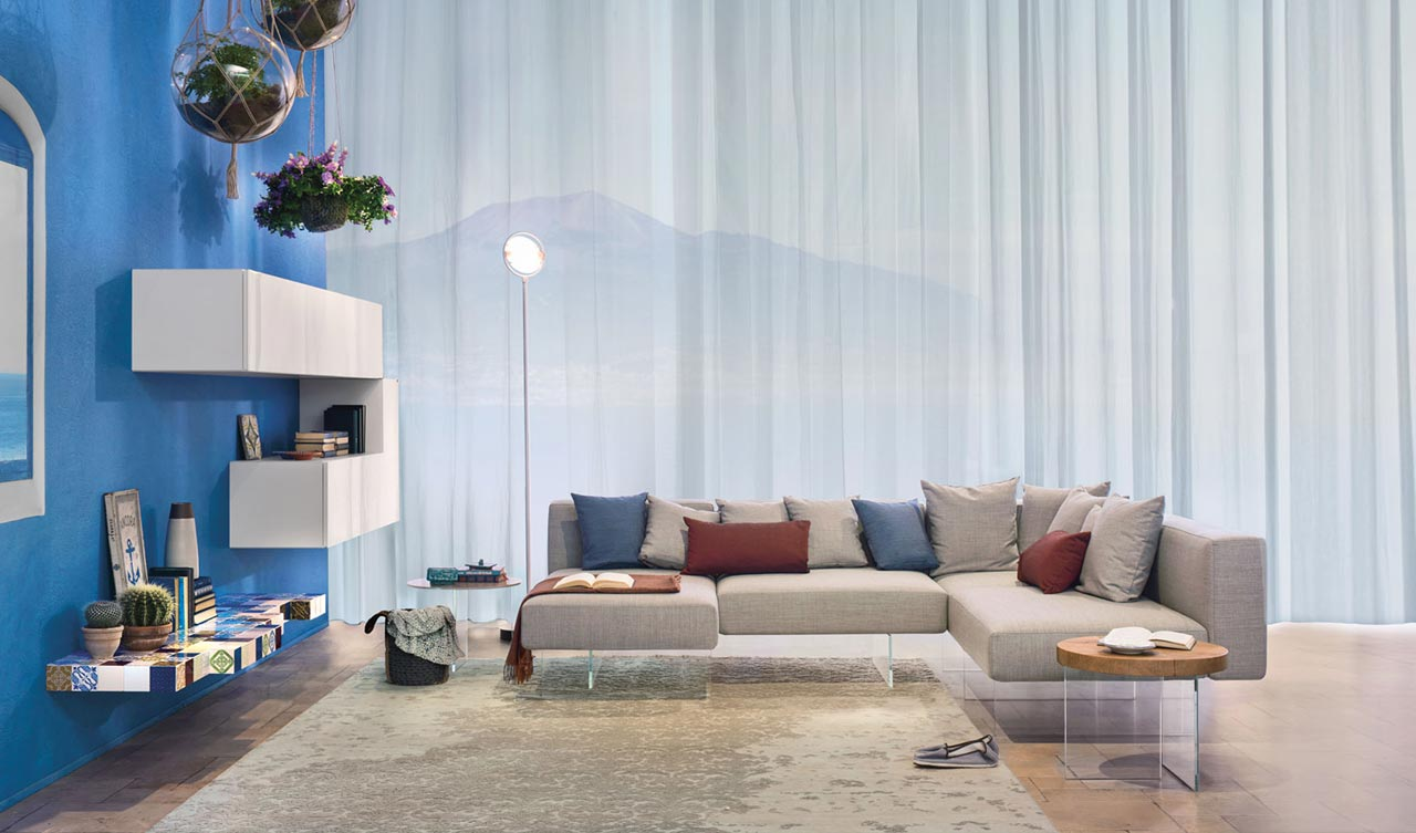Contemporary living room light and airy for Lago living room