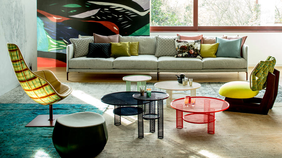 A colourful living room that makes you smile