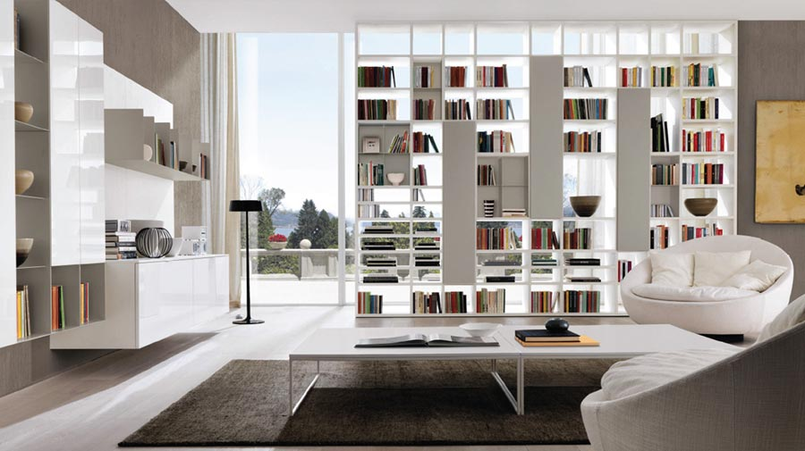 The freestanding bookcase as a room divider