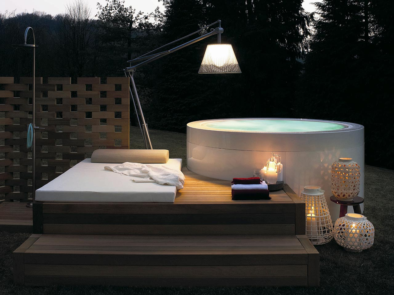 Kos by Zucchetti, mini pool Round Hot Tub