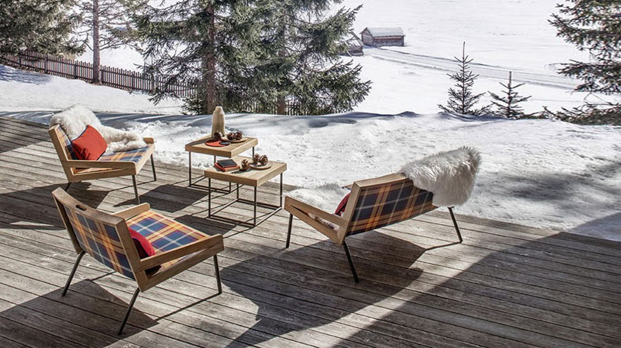 The tartan living room is the latest in outdoor elegance