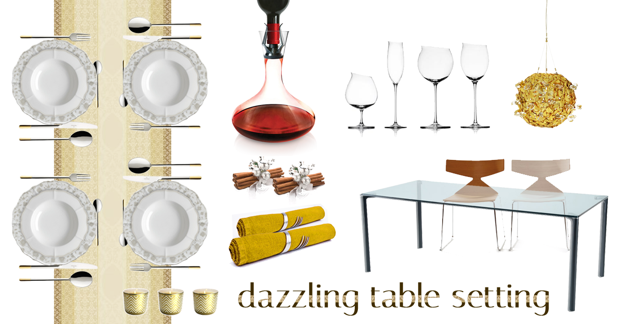 moodboard table setting for holiday