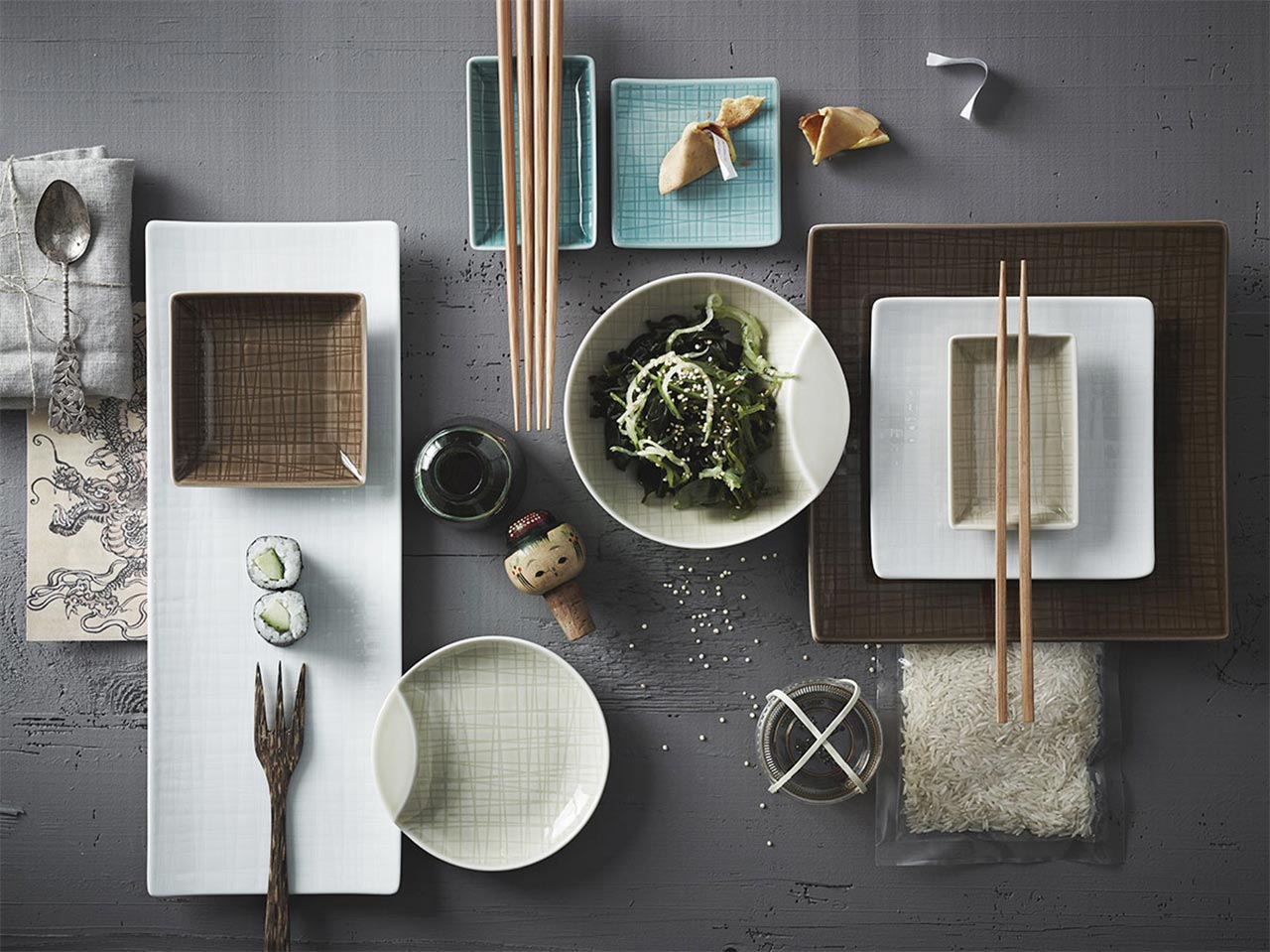 table settings a mix and match table. Black Bedroom Furniture Sets. Home Design Ideas