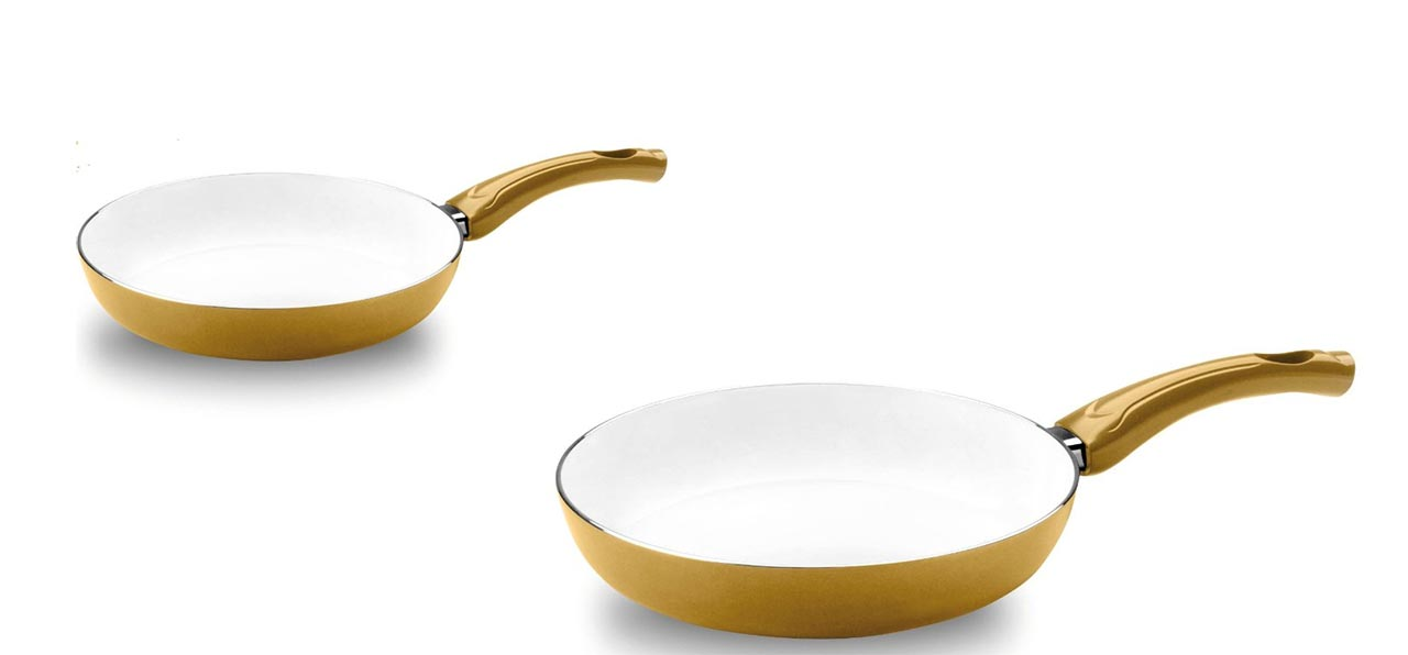 Bialetti, padelle Ceramic Ok Easy Gold