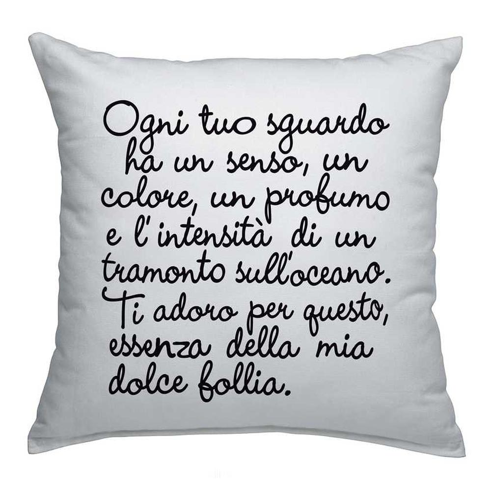Creativando, cuscino Poem White
