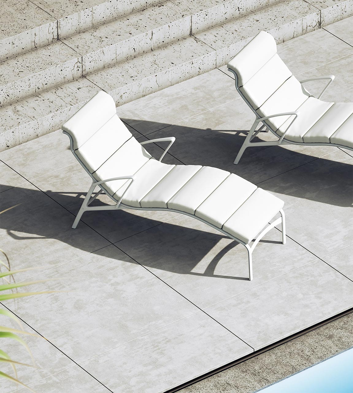 Alias, chaise longue Longframe Soft Outdoor