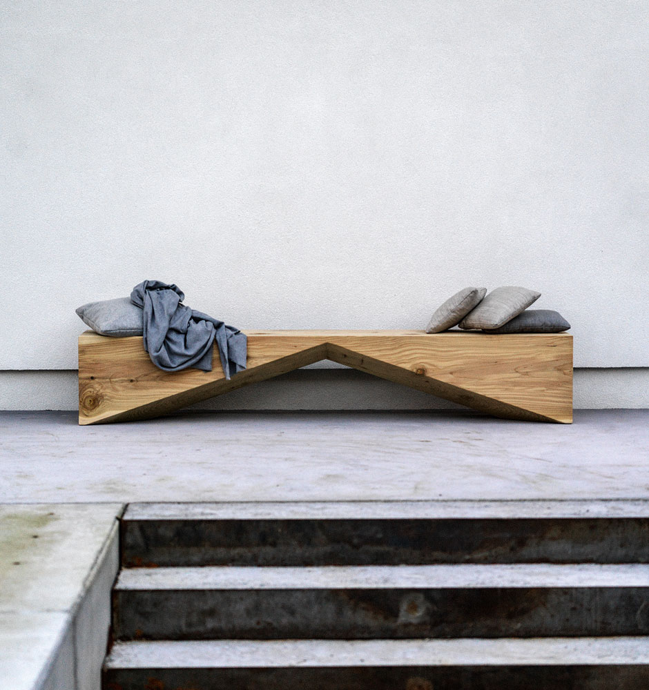 Bridge bench, design C.R. & S 2019, Riva 1920