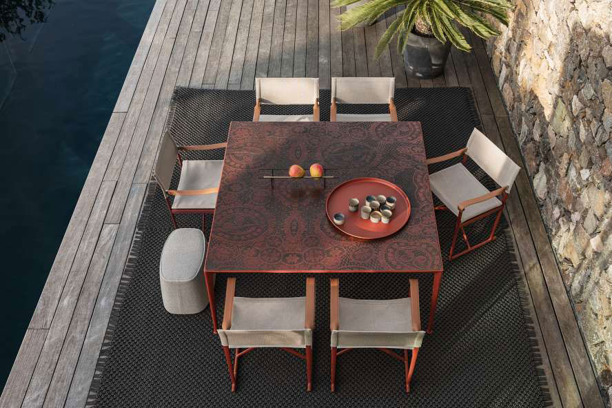 Mirto Outdoor table, design Antonio Citterio 2019, B&B Italia