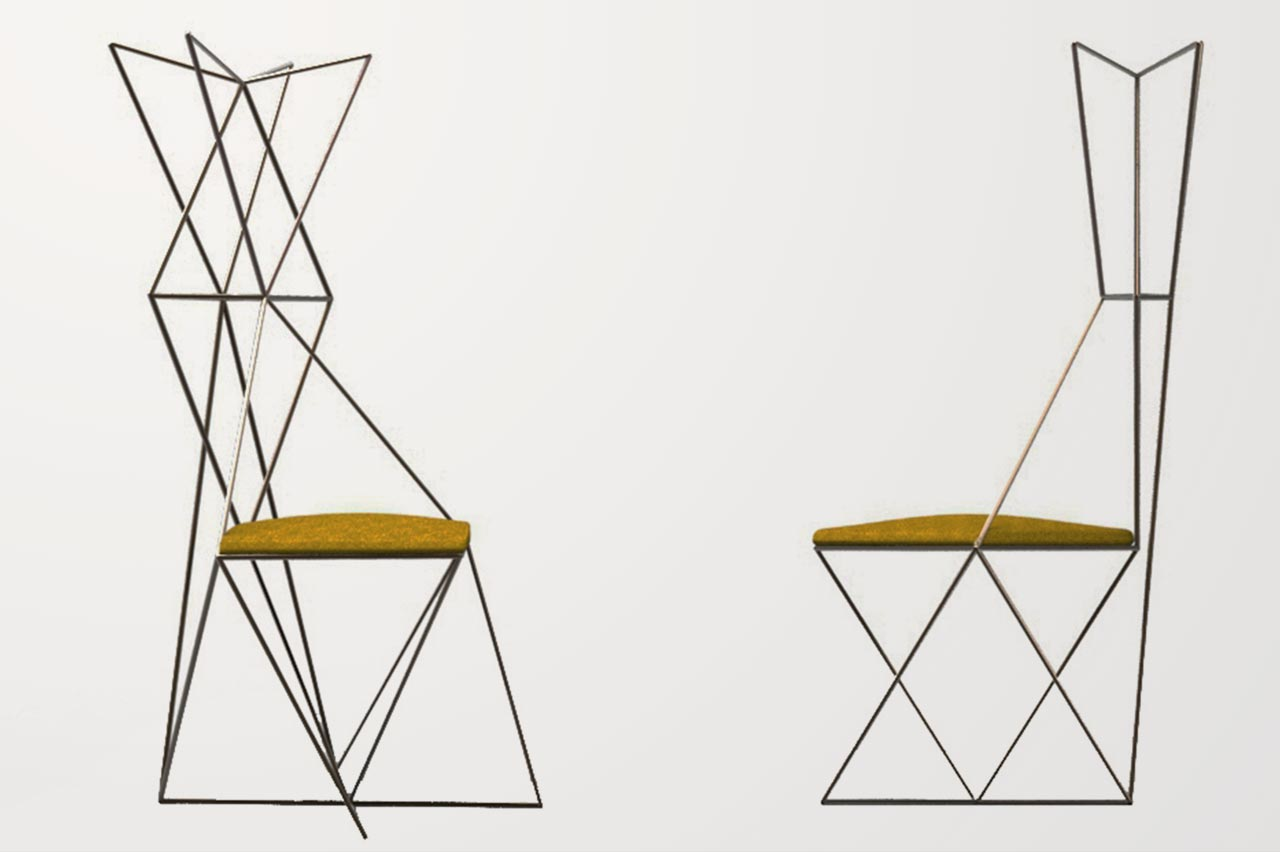 Dablu seat and coat stand by Désirée