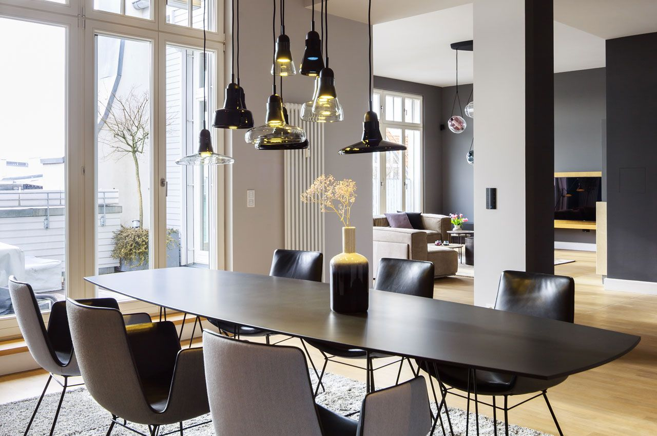 Dining room lighting: 10 examples to choose from