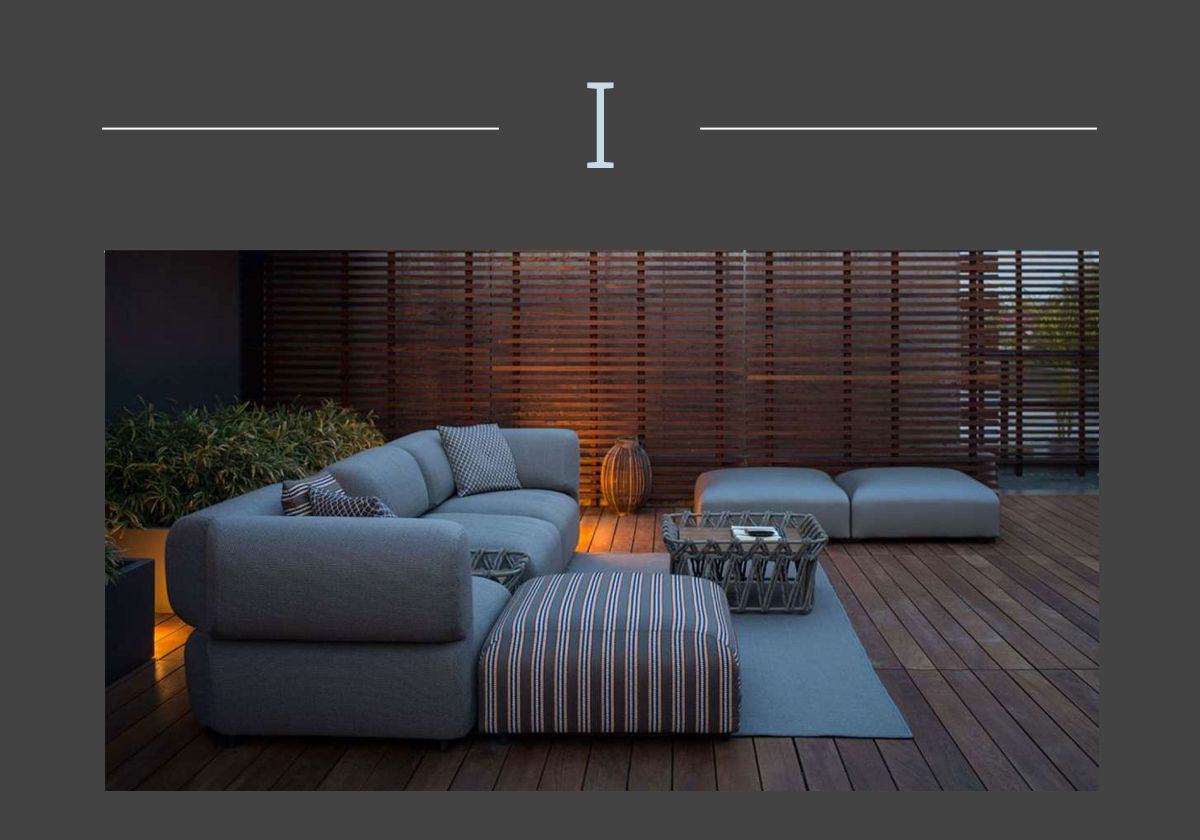 Modular sofas for an outdoor living which can change in time as Butterfly, B&B Italia