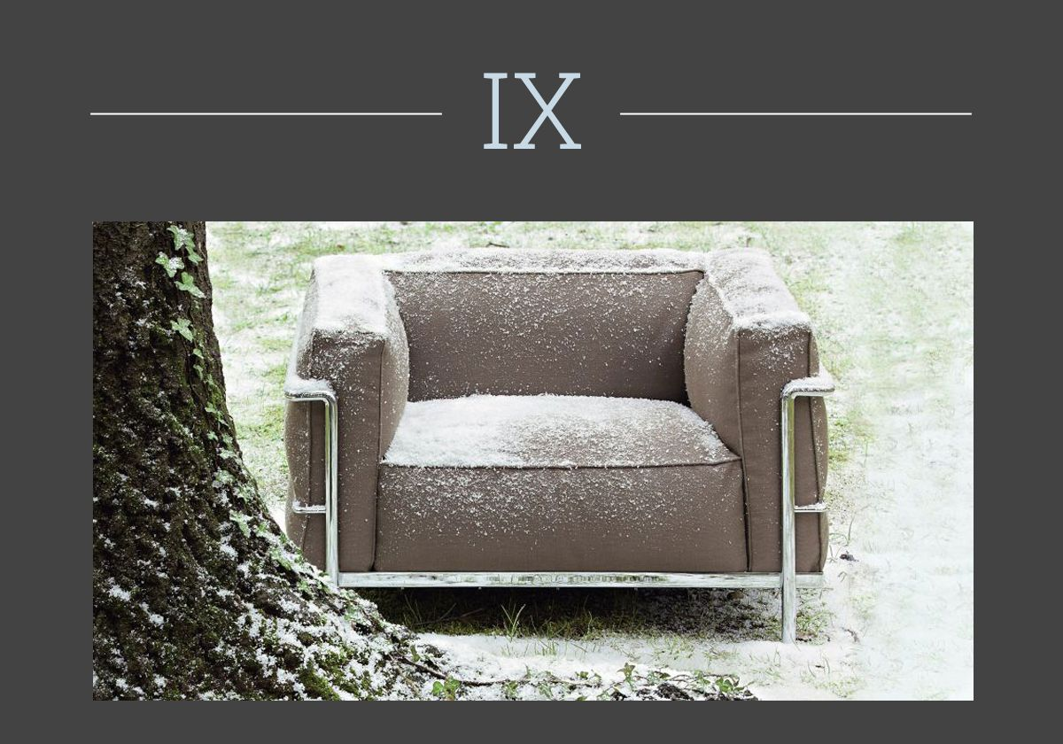 LC3 outdoor by Le Corbusier, collection I Maestri, Cassina.