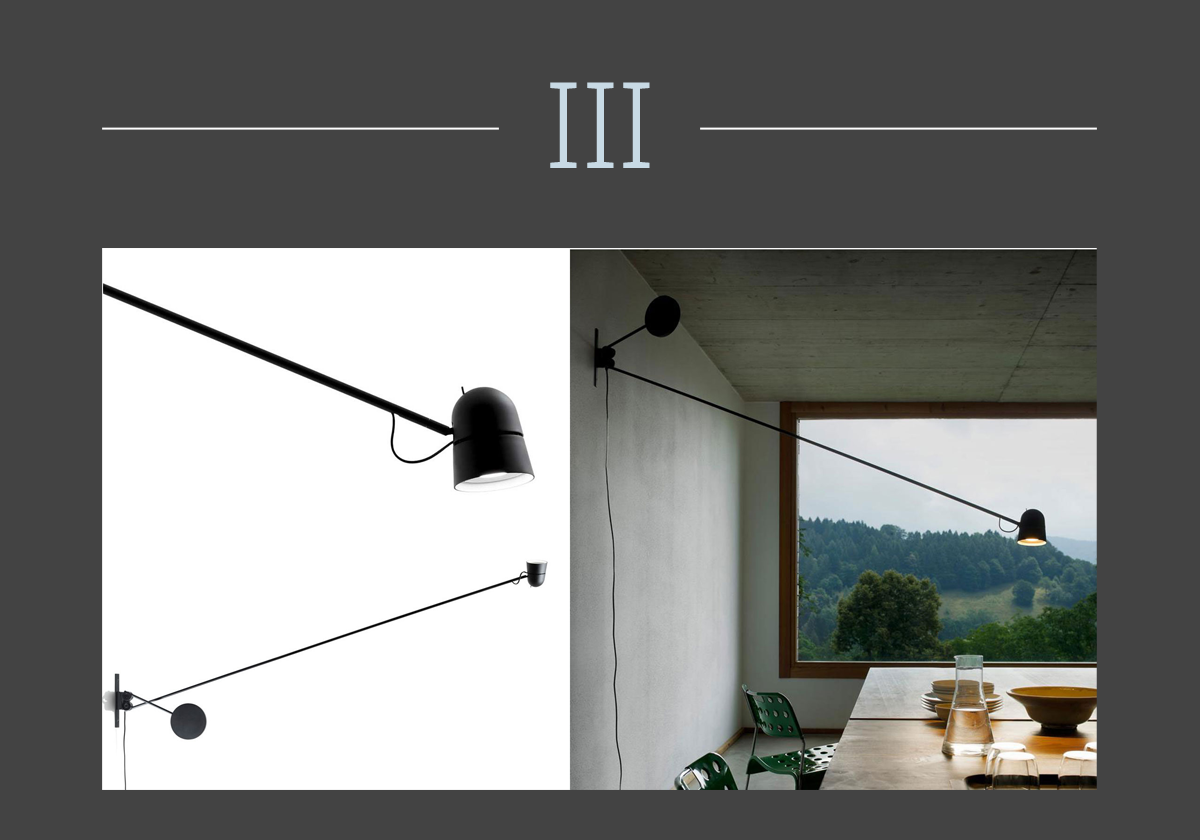 Counterbalance adjustable lamp by Luceplan