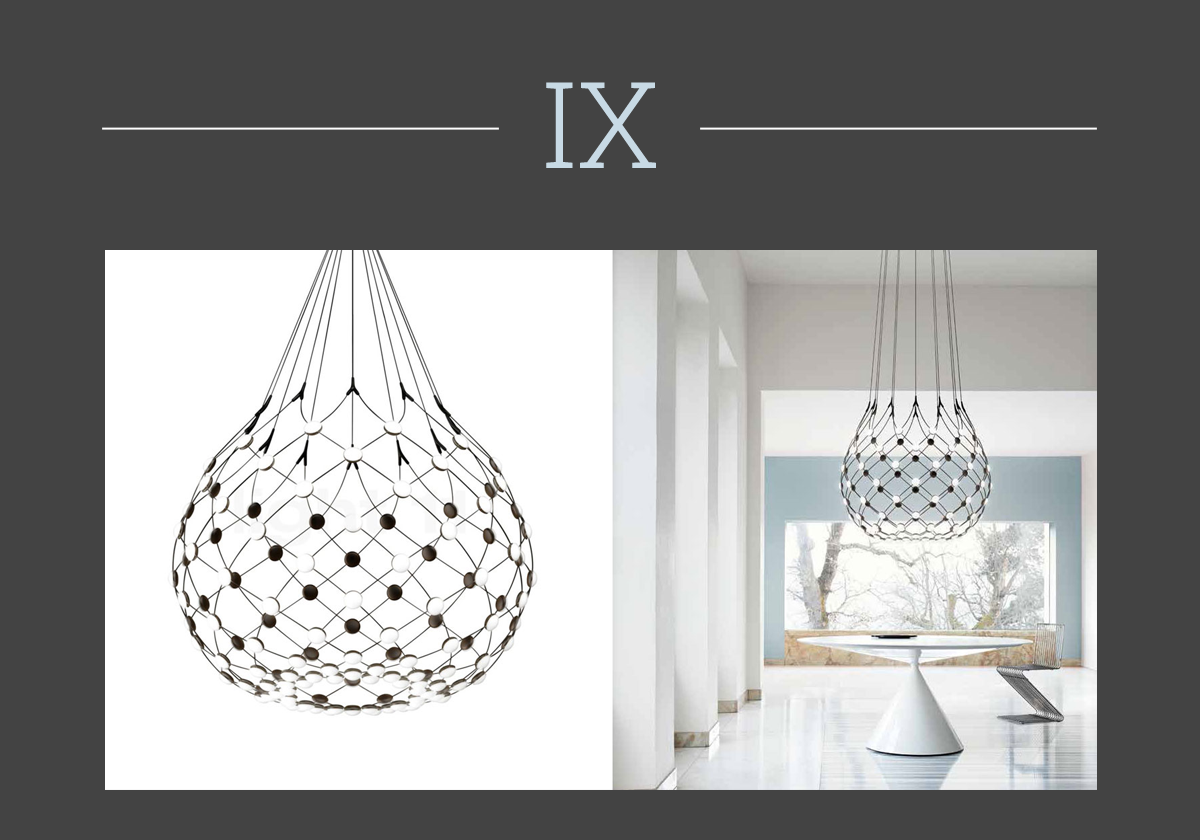 Mesh chandelier by Gomez Paz for Luceplan