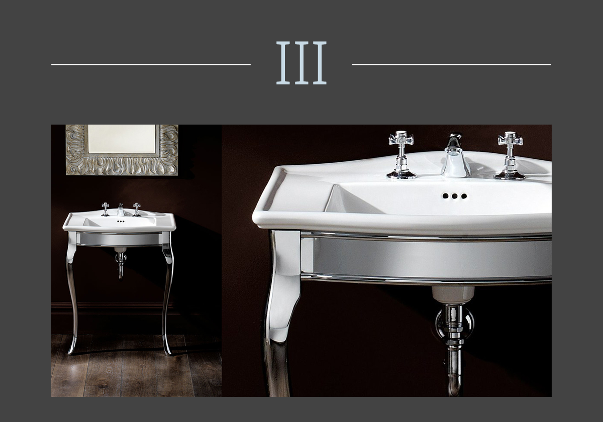Lady console washbasin by Devon&Devon