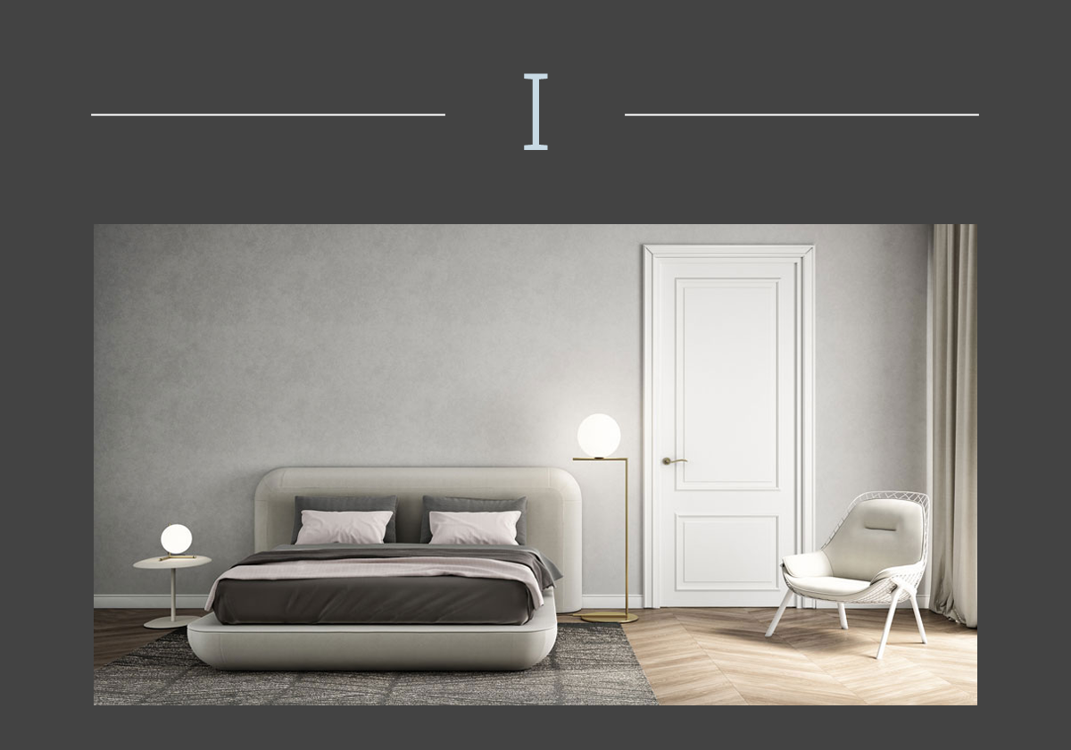 Okome upholstered bed by Alias