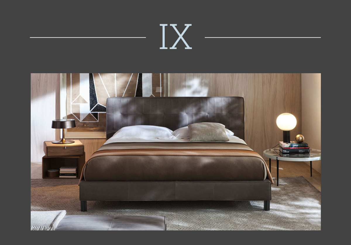 Letto Anton upholstered bed by Molteni & C