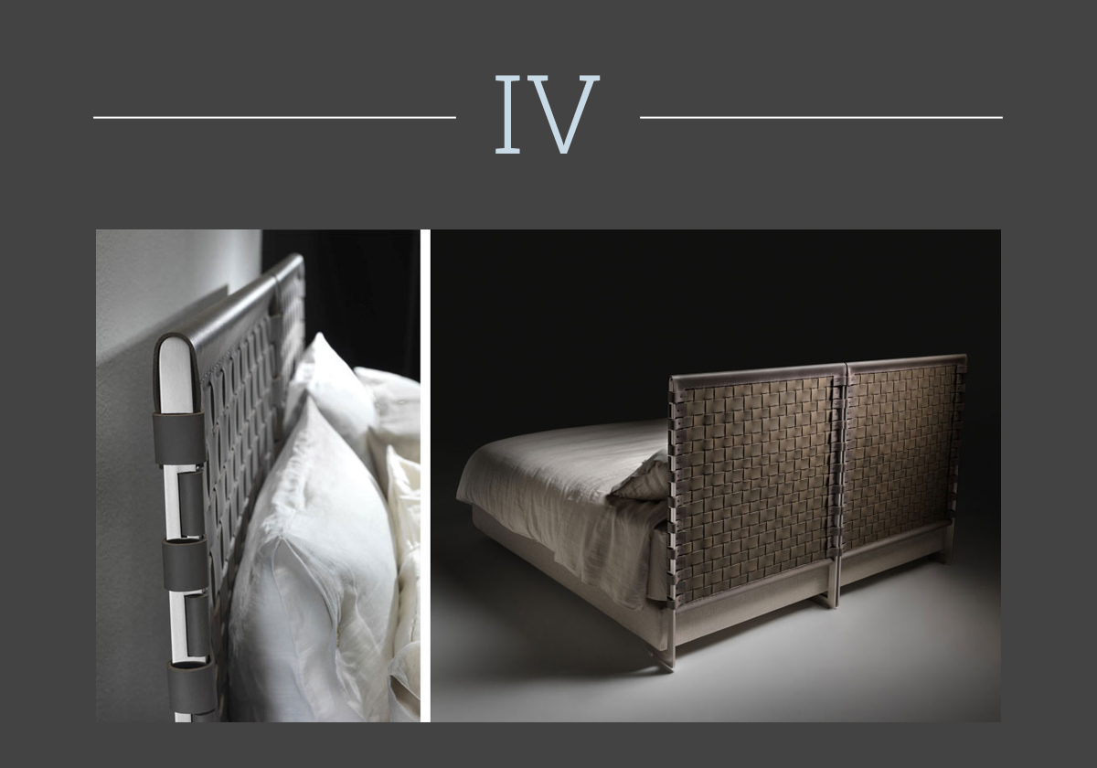 The Cestone bed by Antonio Citterio for Flexform