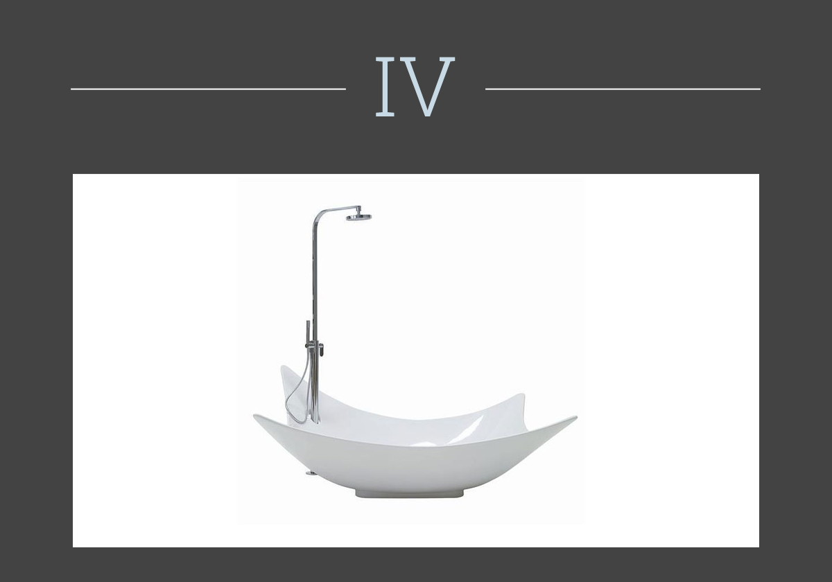 Leggera bathtub by Flaminia