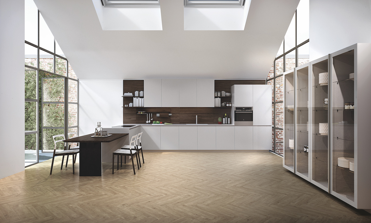 Kitchen Lain, design R&S Euromobil Kitchen.