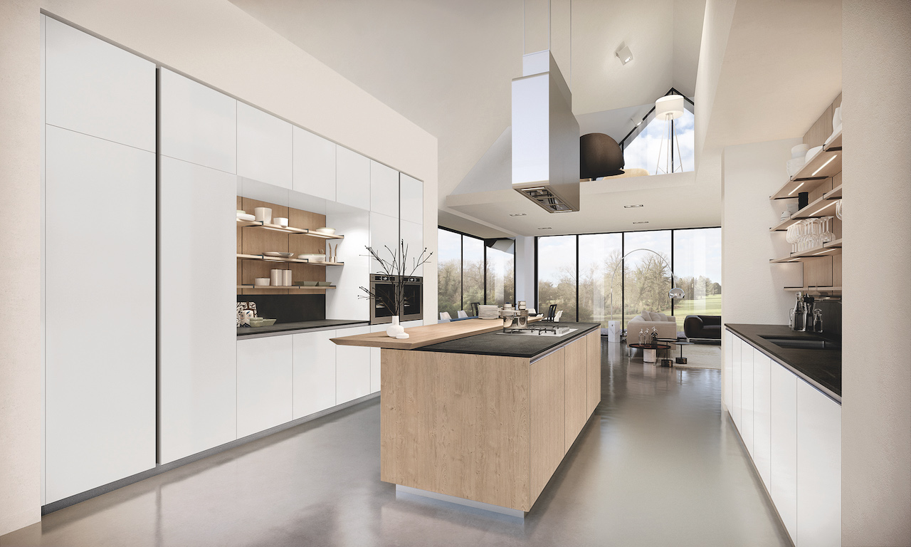 Kitchen Lain, design R&S Euromobil, Kitchen Atmosphere.