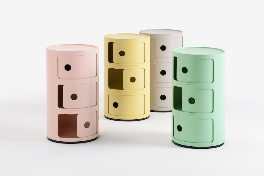 Componibili Bio, the sustainable version of Kartell's bestseller