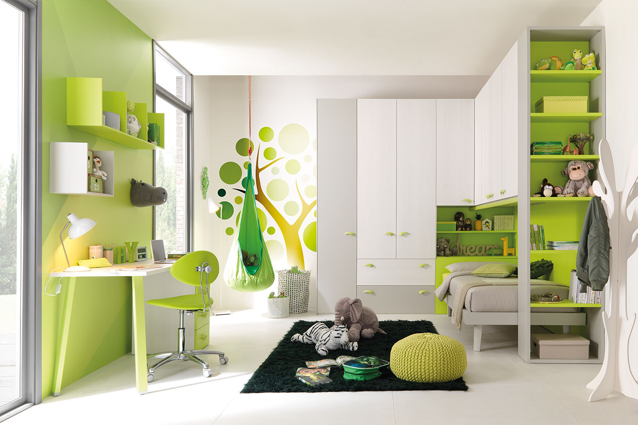 Composition for bedroom KC 407, Kids collection, Moretti Compact.
