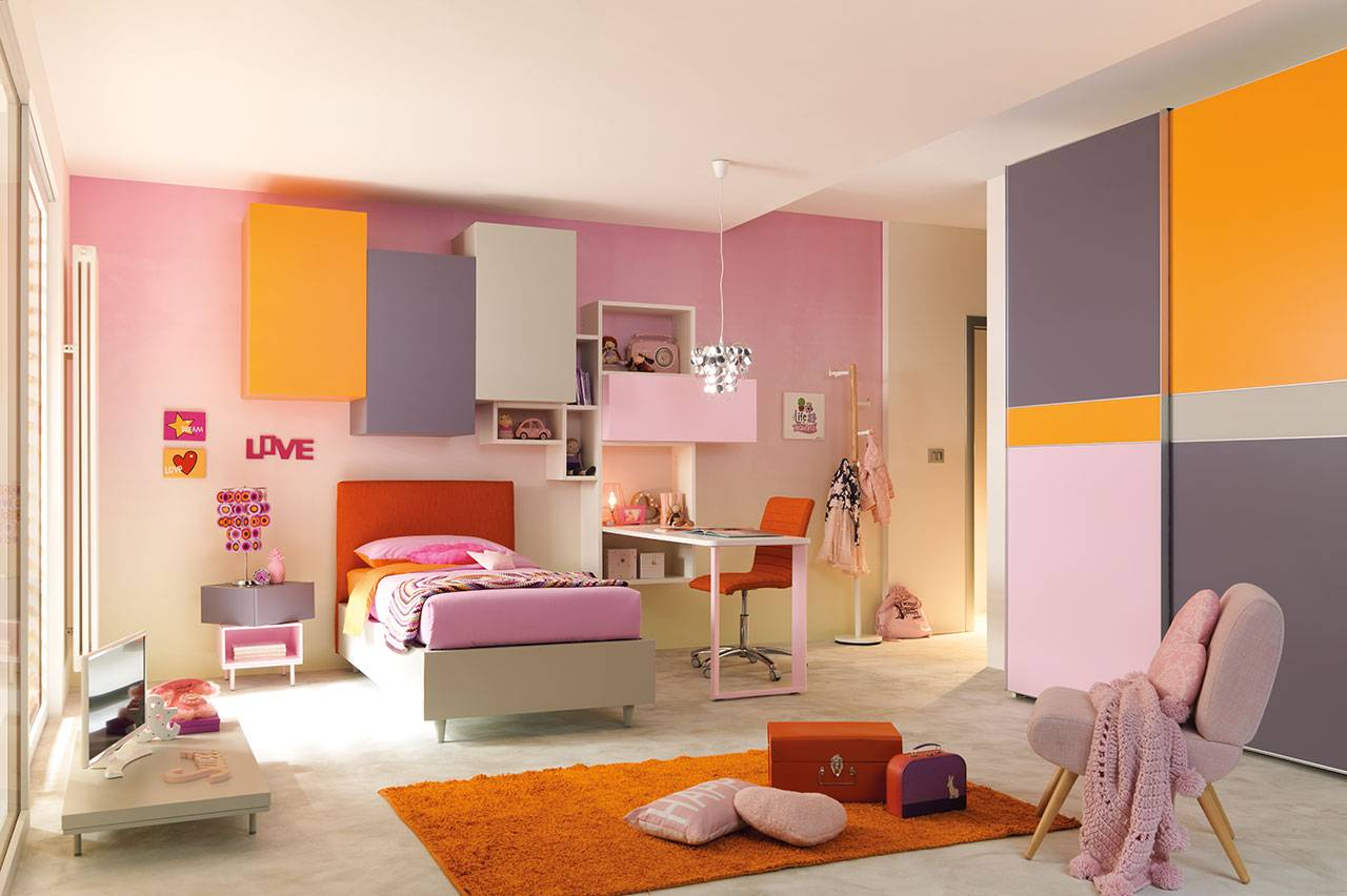 Composition for bedroom KC 406, Kids collection, Moretti Compact.