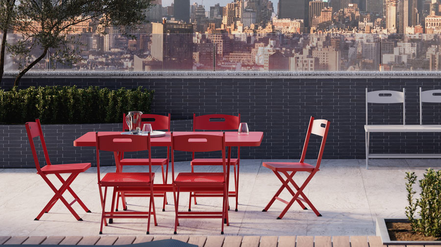 Exi by Unopiù: aluminum creates new outdoor spaces