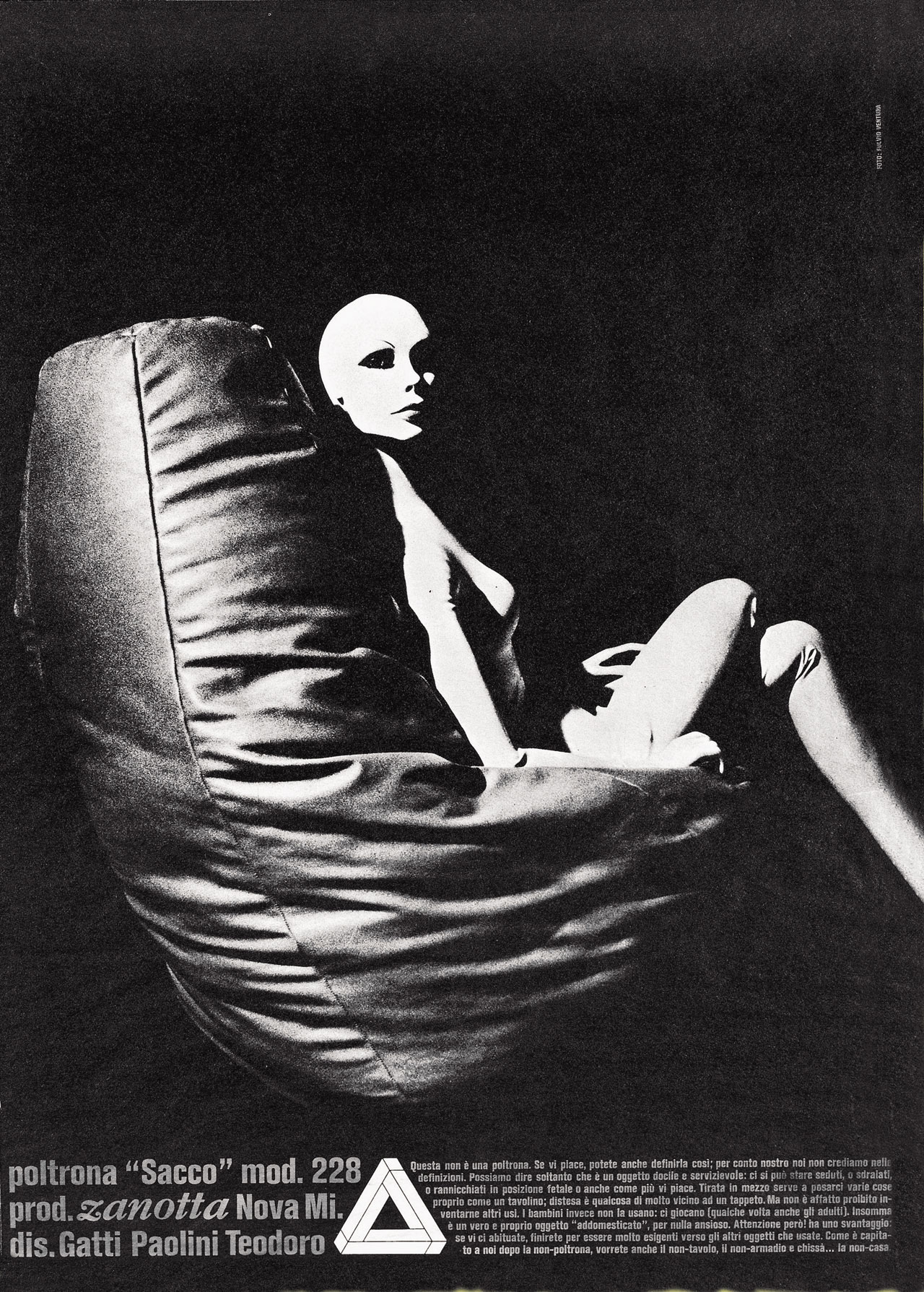 A publicity shot from the seventies that illustrates the armchair.
