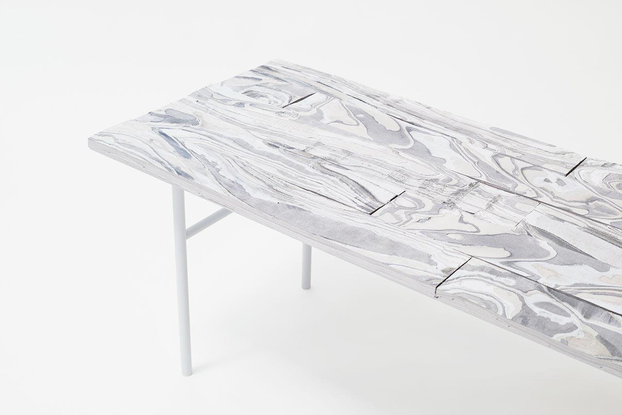 Tavolo Alcantara Wood by Nendo