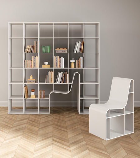 Bookchair by Alias, a bookcase and chair combined