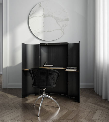 Layout secretaire by Alias, a workstation fit for the metropolitan nomads