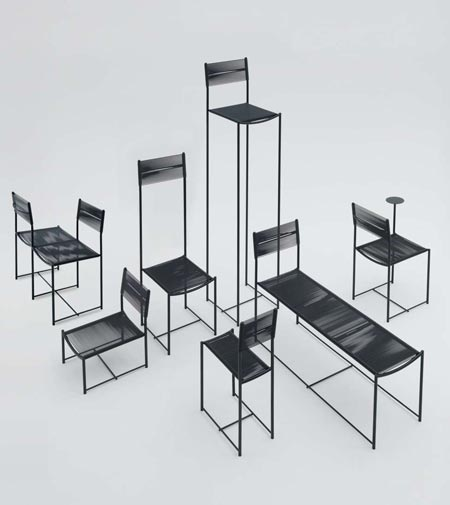 Spaghetti Chair by Alias, celebrated in seven one-of-a-kind styles