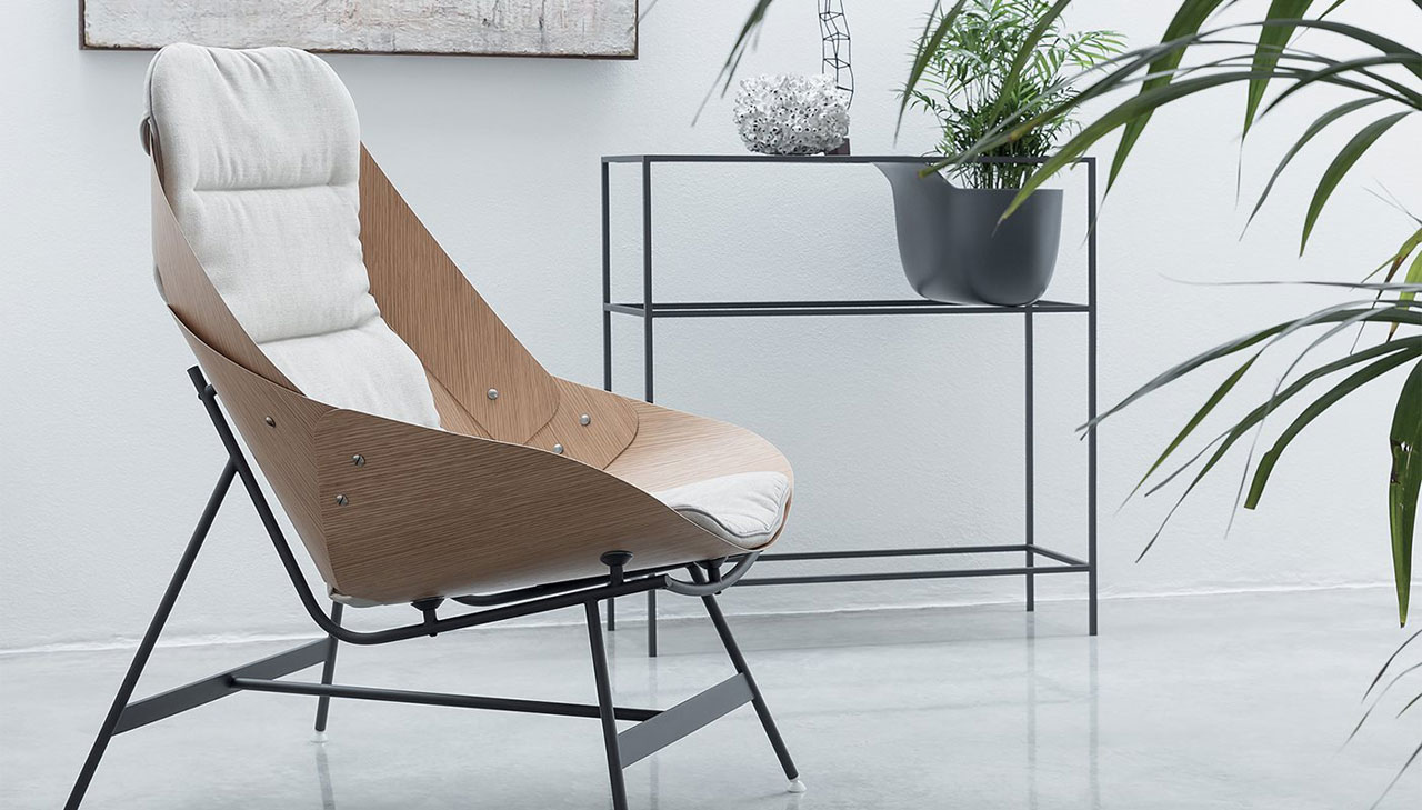 Time by Alias, an avant-garde armchair that results from a folded sheet