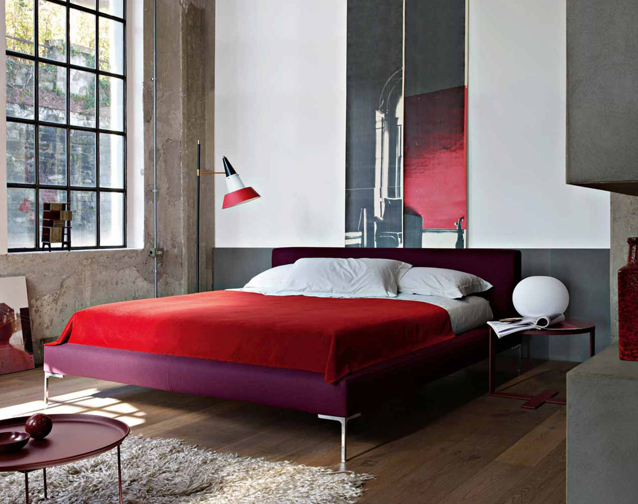 b b italia furniture the charles bed. Black Bedroom Furniture Sets. Home Design Ideas