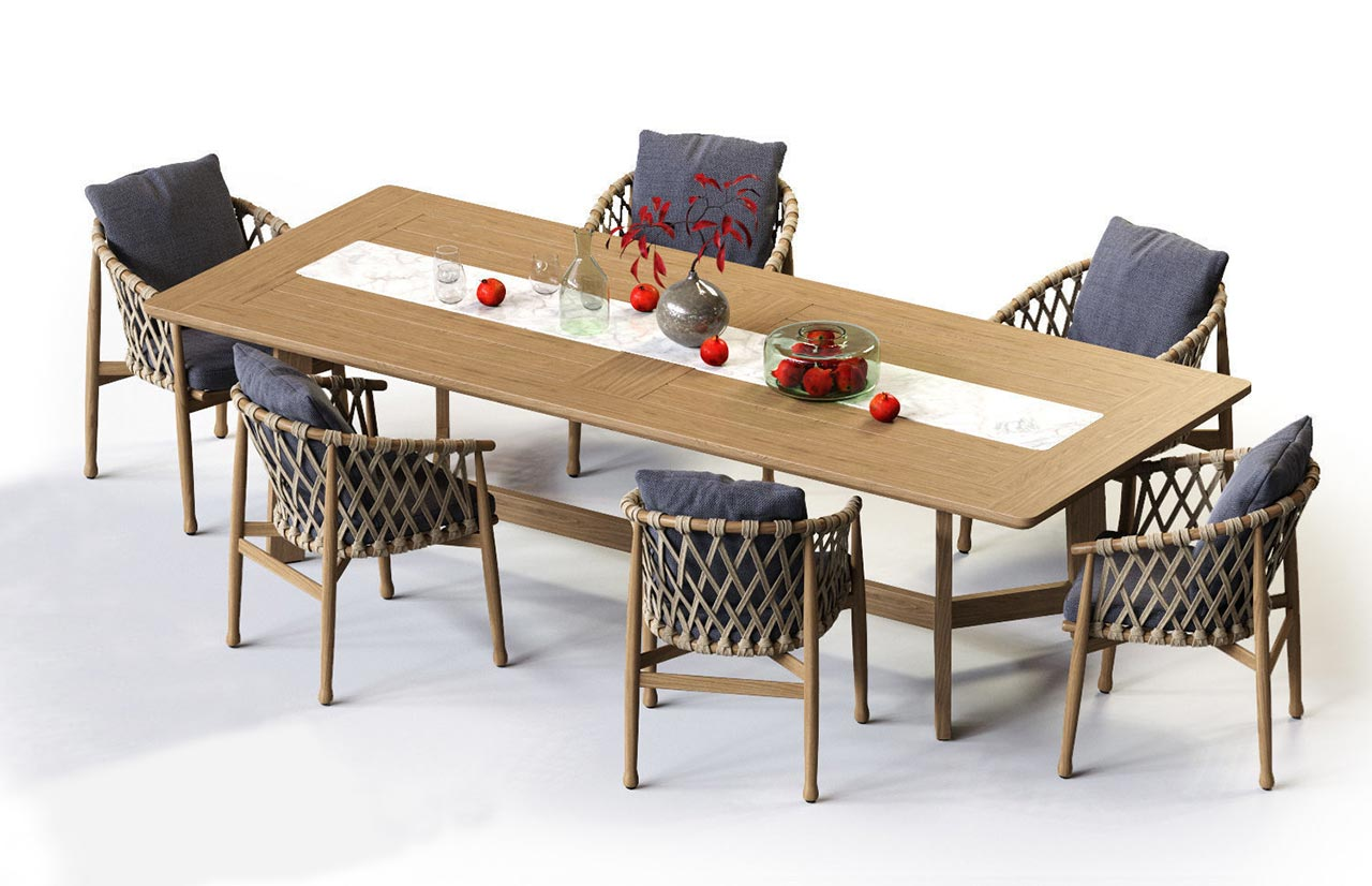 Outdoor table ginestra by b b italia for B b outdoor