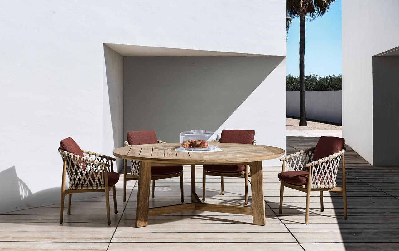 Outdoor table ginestra by b b italia for B b design roma