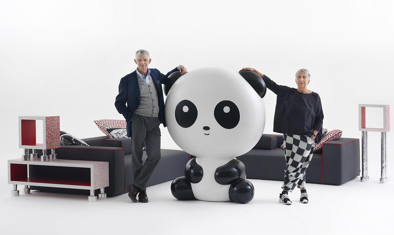 Giulio Cappellini with Paola Navone
