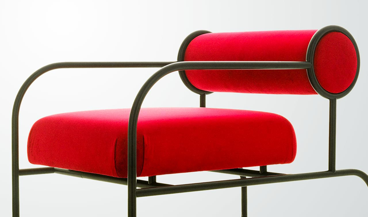 Cappellini Sofa With Arms Black Edition