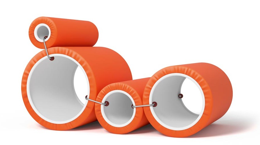 Tube Chair by Cappellini, the iconic chaise-longue by Joe Colombo