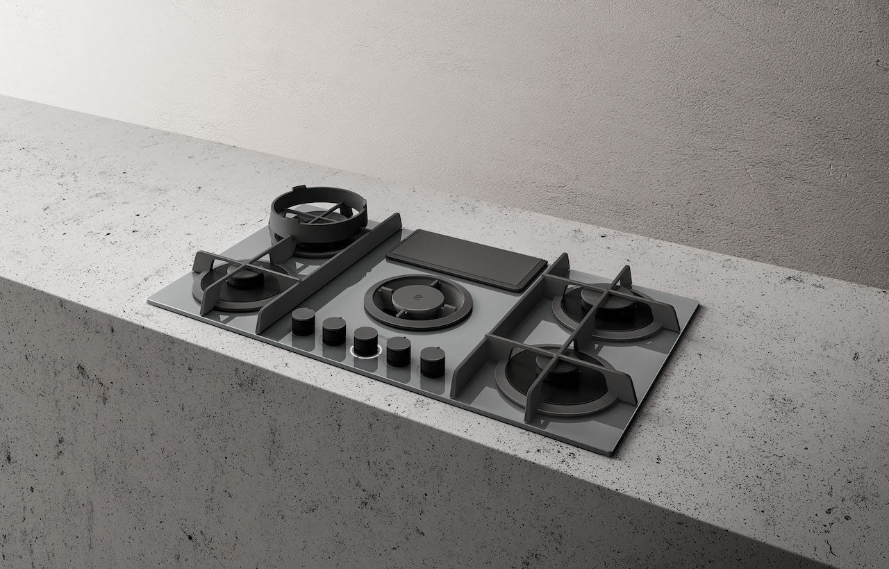 NikolaTesla Flame kitchen hob, design Fabrizio Crisà 2019, Elica.