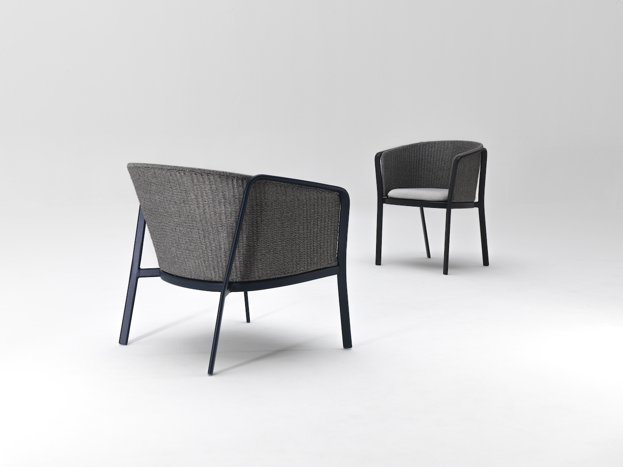 The Carousel Lounge chair and armchair. Design Sebastian Herkner 2019, Emu.