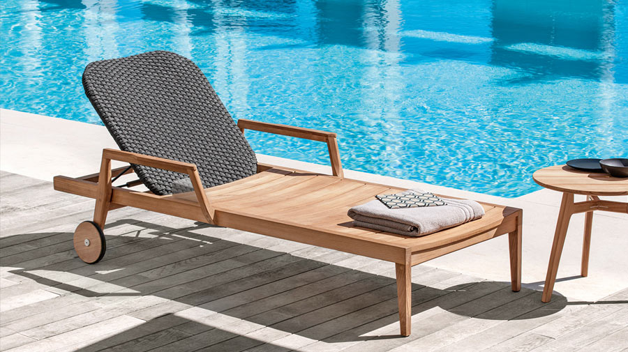 Knit by Ethimo, the subtly elegant deckchair